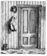 drawings - Door & Boots by Terri Barnard | Art and ...