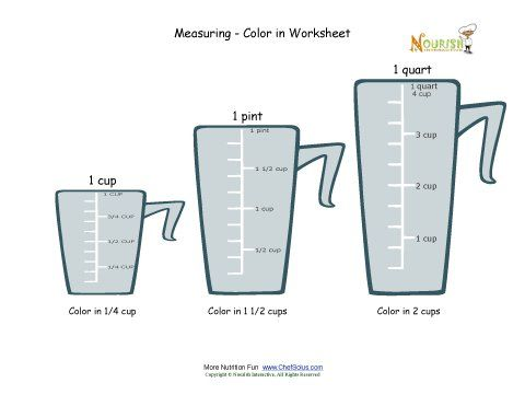 Math Recipe Worksheets Recipe Skills Workshopculinary