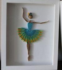 Quilled Ballerina framed wall art by Especially4UHandmade ...