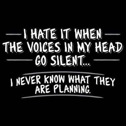 Cartoon Introvert Girl Wallpaper Voices In My Head Funny Quotes Quote Crazy Lol Funny Quote
