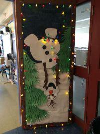 My Olaf holiday door decoration for school. | Classroom ...