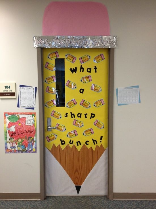 Classroom Decor Ideas: new door decoration for 1st day of