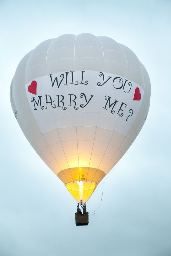 Girl Propose To Boy Wallpaper With Quotes Hot Air Balloon Proposal Proposal Ideas Pinterest