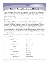 Context Clues Worksheets Multiple Choice Pdf - context ...