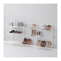 ALGOT Wall upright/shelves/shoe organizer, metal white