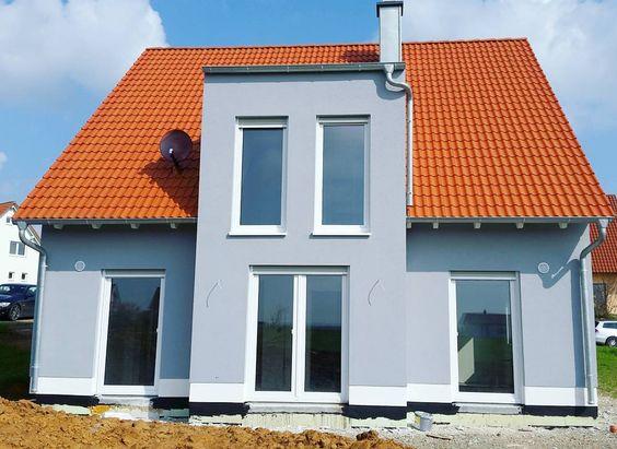 Schöne Fassadenfarbe ( Blau-Grau) Haus Pinterest Ps - fassadenfarbe haus