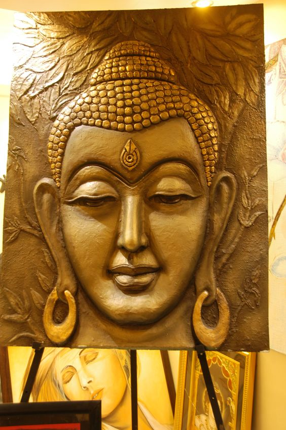 Lord Buddha 3d Live Wallpaper Buddha Mural Made Of Saw Dust Pop Ceramic Mpa