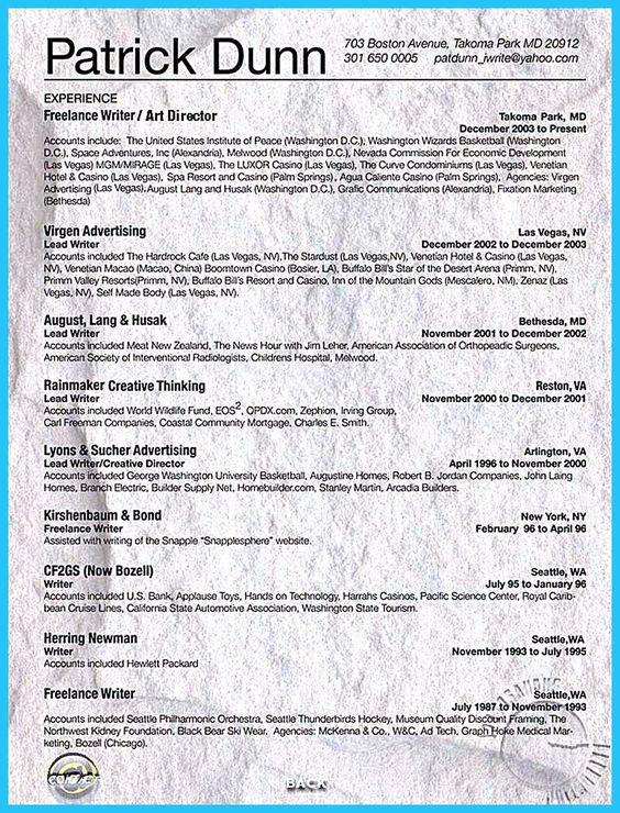 freelance writer resume sample 16 best work resumes and cover