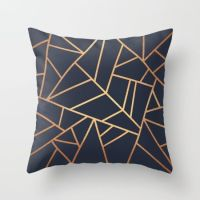 Copper and Midnight Navy Throw Pillow | Copper, Throw ...