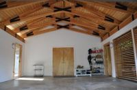 open ceiling, scissor truss system | Project PF ...