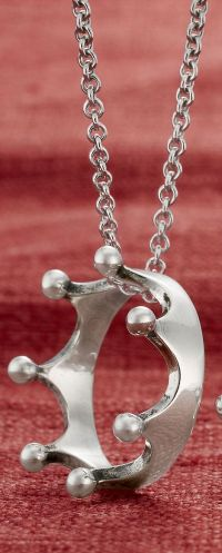 Princess Crown Ring shown on a Cable Chain #JamesAvery ...