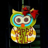 Owl door decorations, Owl door and Fall owl on Pinterest