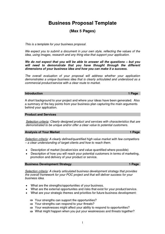Business Proposal Templates Examples | Business Proposal Sample