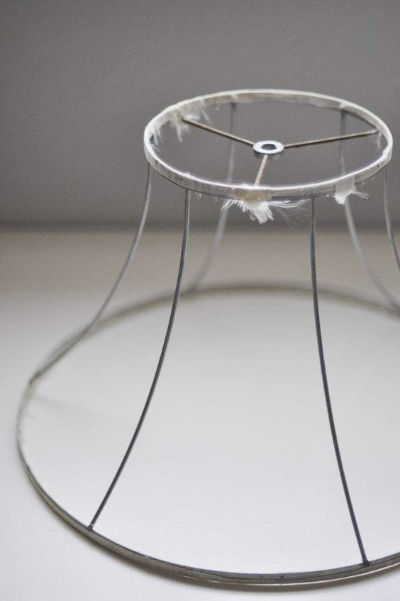 Sewing Project, How To Make A Chandelier Out Of An Old Lamp Shade