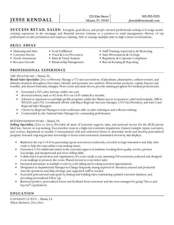 sales representative resume sample cv01 billybullock us - Retail Sales Representative Resume