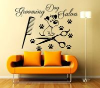 Grooming Salon Wall Decals Decal Vinyl Sticker Dog Pet ...