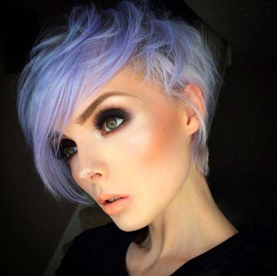 Short Hairstyles for Women: Pastel Pixie Hair: