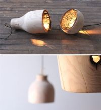 The Fire Within: A Wood Pendant Light with Charred ...