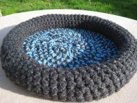 PATTERN - Cat Bed - Crochet Crabby Kitten Pet Bed Pattern ...