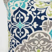 Outdoor pillow Patio cushion Aqua navy blue by ...