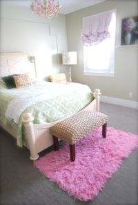 Flokati rug, Girls bedroom pink and Girls bedroom on Pinterest