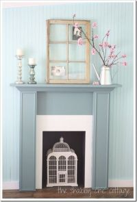 DIY fireplace mantel | Fireplaces, Shabby chic and Diy ...