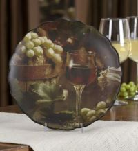 Wine & grape Tuscan Decorative Wall Plate for kitchen ...