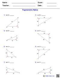 Worksheet 8 7 Trigonometric Ratios Word Problems Answers ...