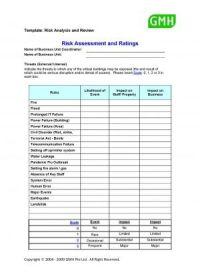 Risk Assessment Template #sample #assessment #risk # ...