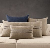 Vintage Stripe Flour-Sack Linen Pillow Collection from ...