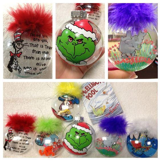 Dr Seuss Christmas ornaments! Crazy tattoos Pinterest - dr seuss christmas decorations