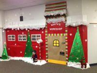 Santas workshop Christmas door decorations   taelynn ...