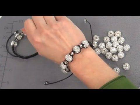 How To Make A Shamballa Bracelet Beading Pinterest