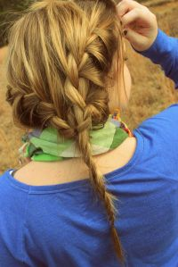 french braid (thin hair looking good!) | Hair & Beauty ...