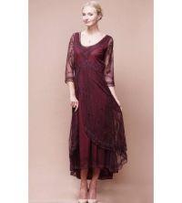 2015 New Burgundy Mother's Dresses V-Neck elegant ...