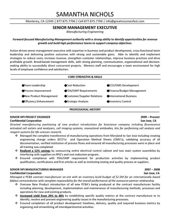 College Student Resume Objective Samples Resume Objective - senior engineer resume