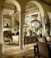 Arches, Columns and Living rooms on Pinterest