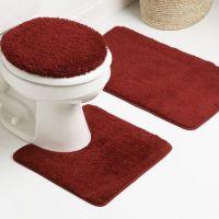 Dark Red Bathroom Rugs Set | Red Bathroom Rugs | Pinterest