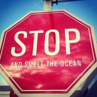 Stop sign saying