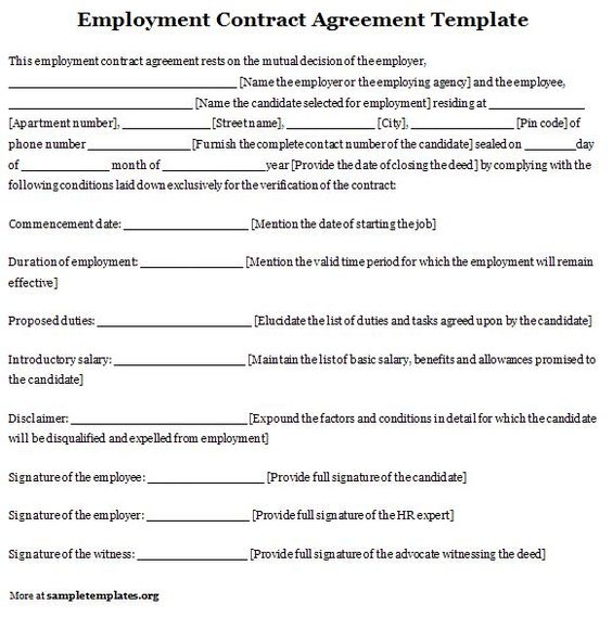 Nanny Work Agreement Template  Create Professional Resumes Online