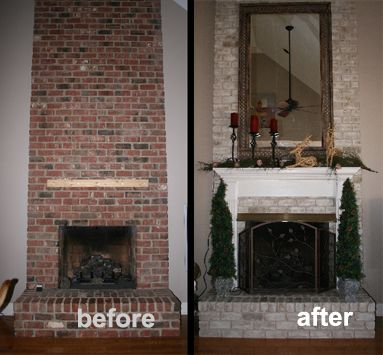 Faux Painted Brick Fireplace | Very Very Difficult To Get The