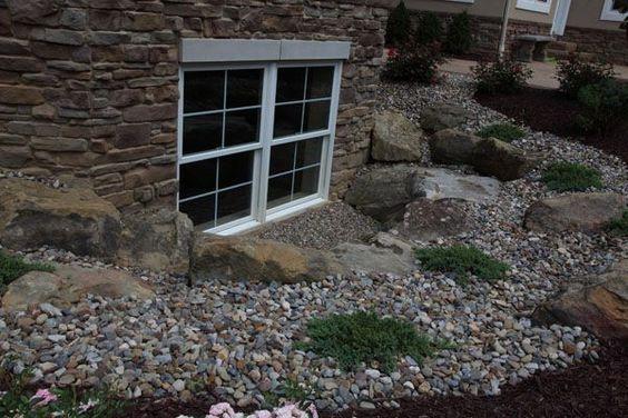 landscaping around basement windows