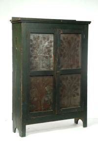 AMERICAN PUNCHED-TIN PIE SAFE. Mid19th century, poplar ...