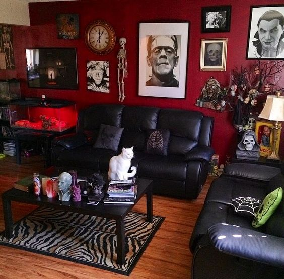 Goth, Living rooms and Decor on Pinterest