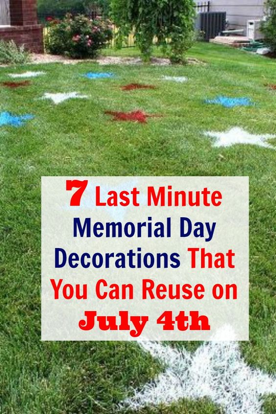 Memorial day decorations, Memorial day and Last minute on