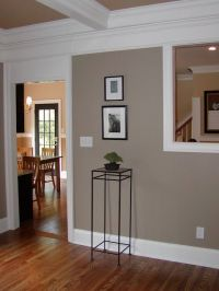 wall color: brandon beige, benjamin moore with white trim ...