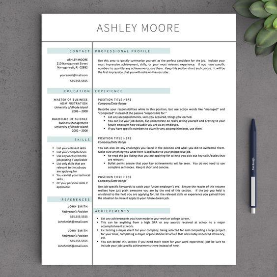 Apple Pages Resume Templates Drop Cap Pages Resume Template Free - free resume templates for pages