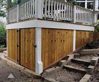 Under deck storage. Built by Atlanta Decking & Fence ...