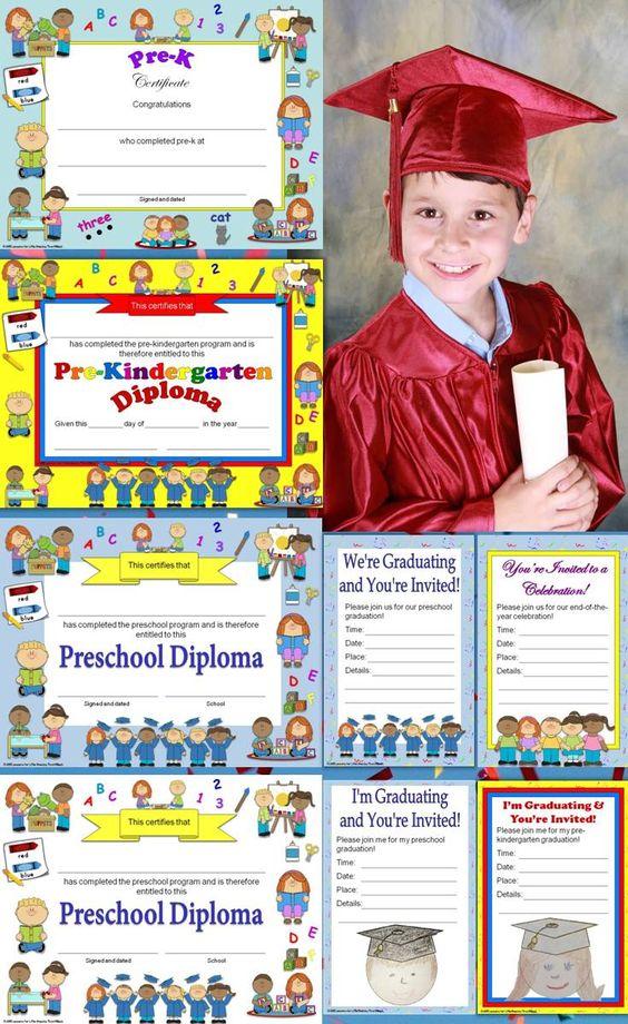 pre k graduation certificates