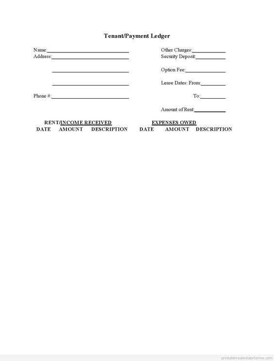 Doc#585630 Rental Ledger Template u2013 Sample Rental Ledger - rental ledger template